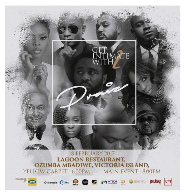 """Praiz """"Get Intimate"""" concert Holds 18th February 2017     Nigerias leading RnB musician & X3M Music artiste Praiz Adejo better known as Praiz is giving everyone a reason to celebrate this Valentine season with his Get Intimate with Praiz season 2.  The event is coming up on Saturday 18th February 2017 at the Lagoon Restaurant on Ozumba Mbadiwe street Victoria Island Lagos.  At this years event hes going to be premiering his latest video Folashade as a follow up to the single audio release…"""