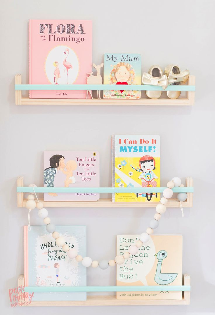 Pretty pastel shelves for a nursery | Petite Vintage Interiors