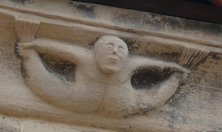 Pépé Ciseaux | tritón románico en Rosheim