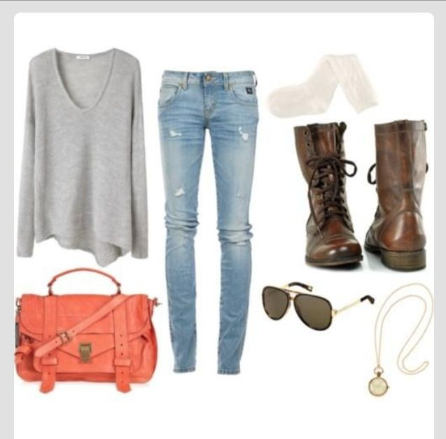 Spring combat boots outfit!