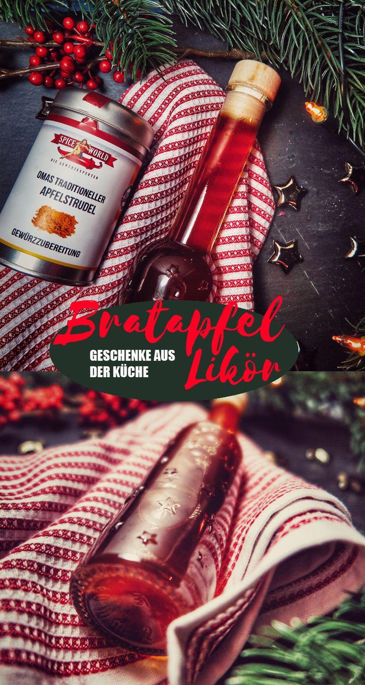 Dieses Weihnachtsrezept ist das ideale Weihnachtsgeschenk: Bratapfel Likör zum Selbermachen. Das Bratapfel Likör Rezept ist schnell gemacht und Geschenke aus der Küche sind immer beliebt.
