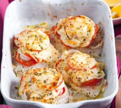 Recept voor visschotel met tomaat