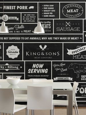 King & Sons Butcher (Wall Mural) by Wallpaper Republic