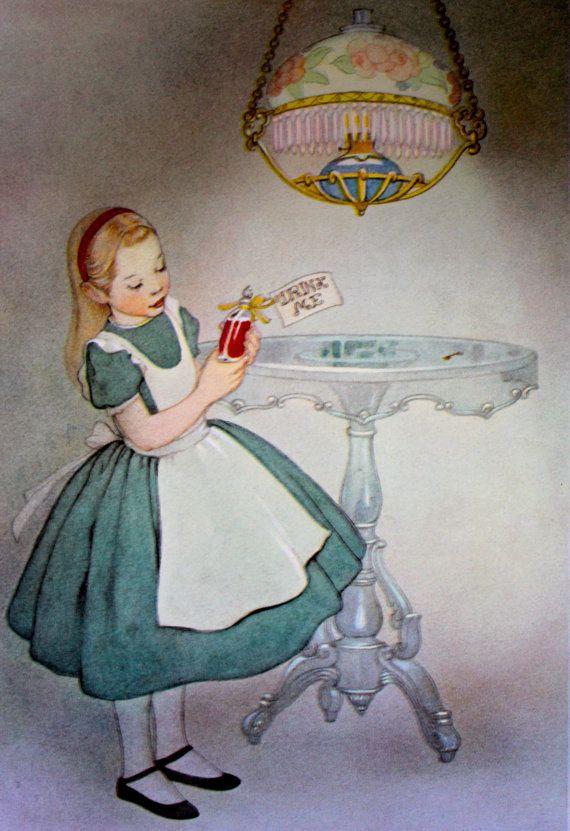 """""""Drink Me"""" Illustration - Alice in Wonderland"""
