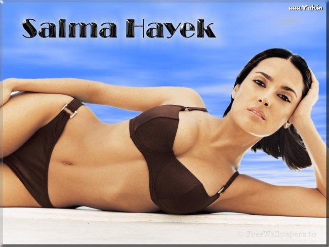Salma Hayek in her Dark Brown  is listed (or ranked) 12 on the list The Hottest Salma Hayek Bikini Pictures