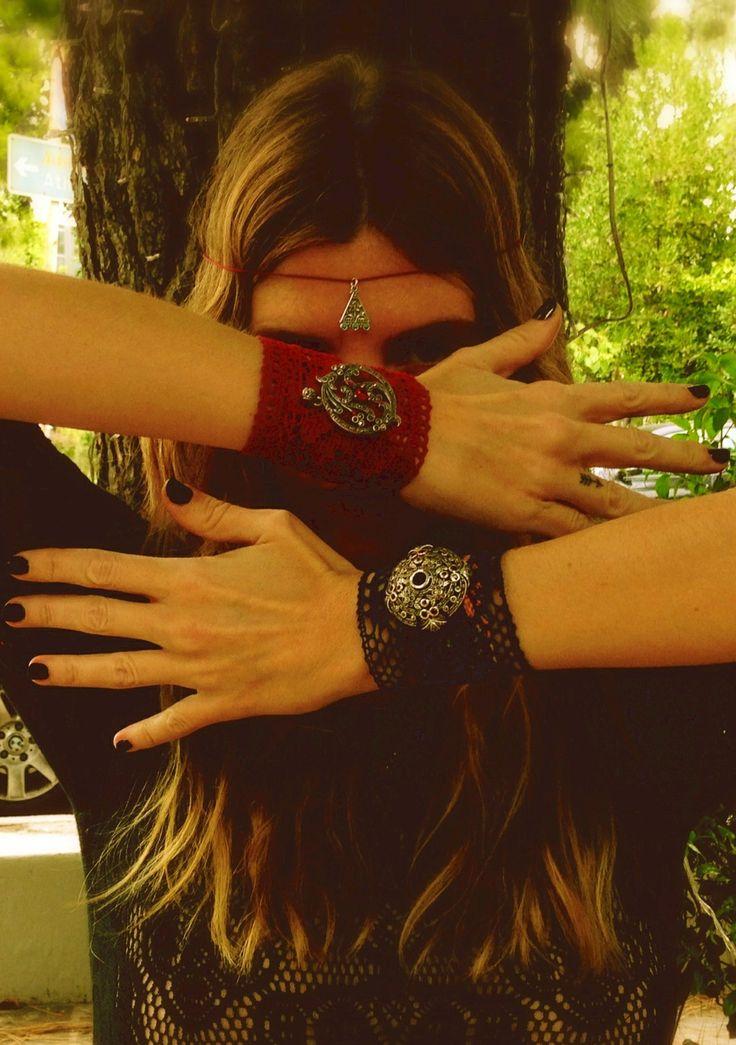 Lace bracelets , lucky charm