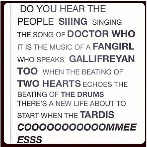 A Doctor Who anthem with a little help from Les Mis.