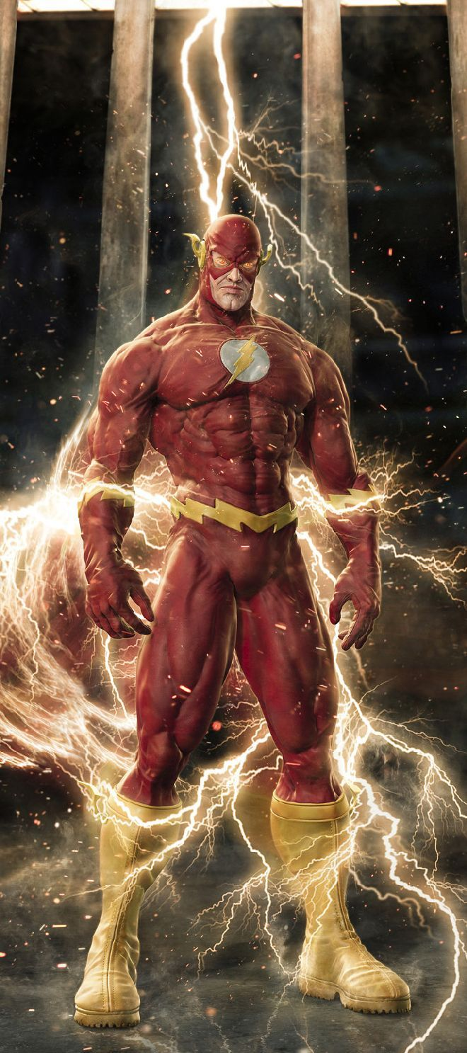 The Flash by Milan Tofel - I'm sorry but this is the scariest Flash I've ever see - and what's with his legs and feet looking larger than anything else? Just weird,....