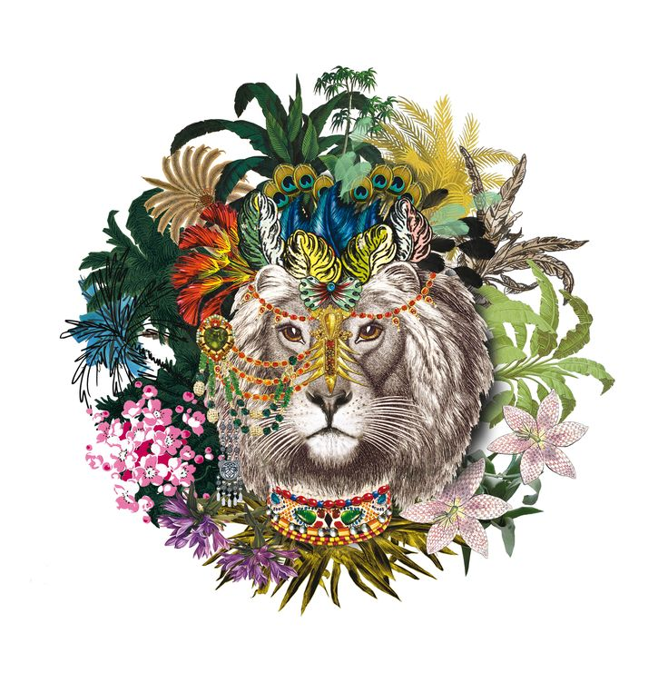 """Christian Lacroix's #exotic """"Jungle King"""" puts on its finery to celebrate #Leo…"""