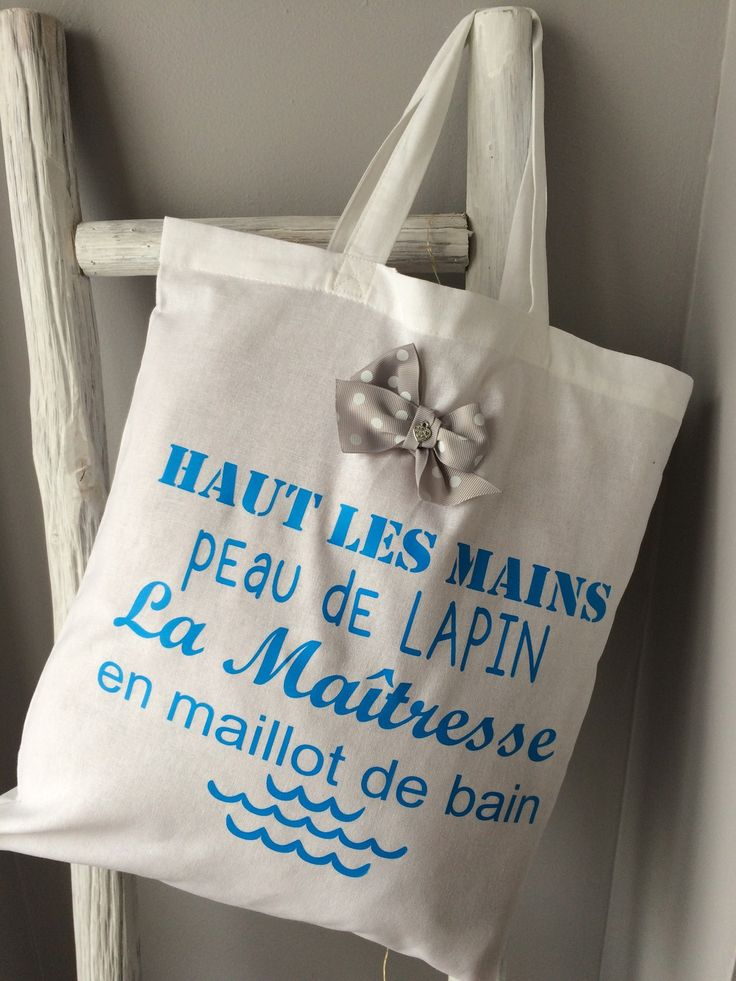 "Tote bag avec message rigolo  pour maîtresse ""fun"""