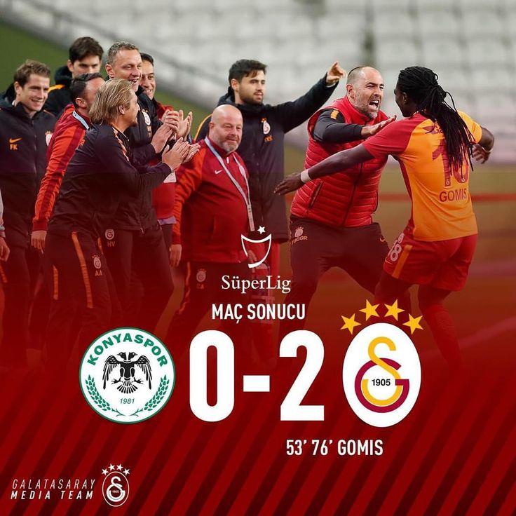 "205.9b Beğenme, 2,774 Yorum - Instagram'da Galatasaray (@galatasaray): ""Maç Sonucu: Atiker Konyaspor 0-2 #Galatasaray #KNYvGS #Hedef21"""
