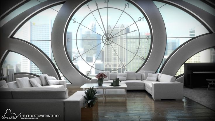 Conceptual project of Clock Tower Interior created in Blender.