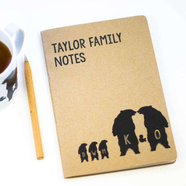 Family Bear Notebook – Little Pieces