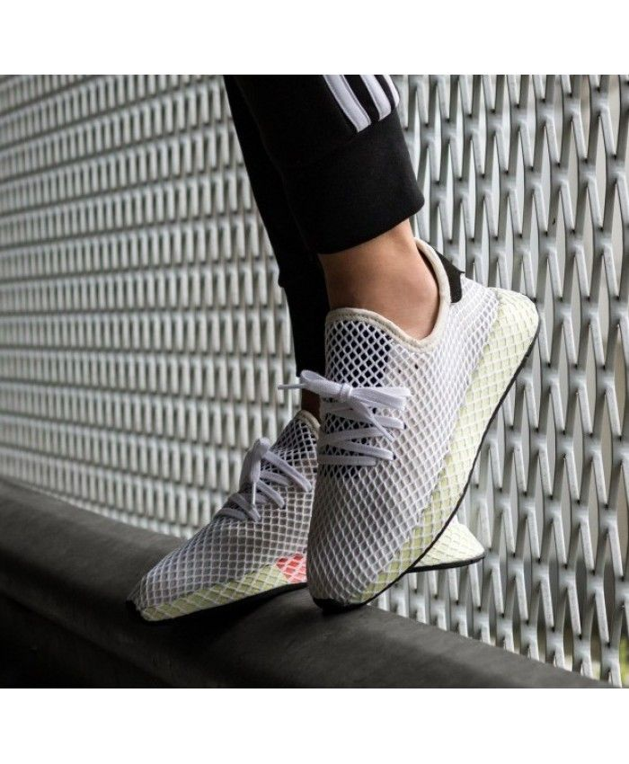 Adidas Deerupt Runner Chalk White Black Shoes  e3655eeb3