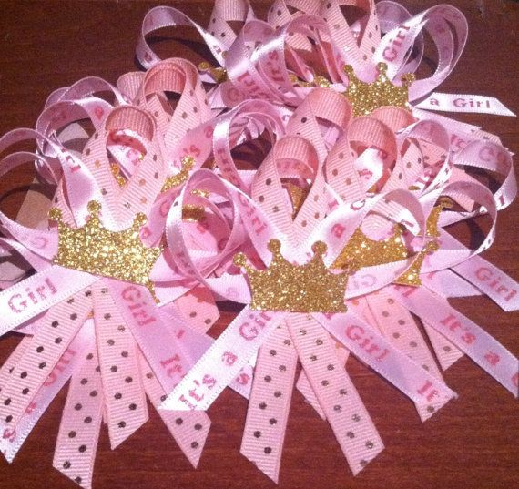 Check out this item in my Etsy shop https://www.etsy.com/listing/286155245/pink-and-gold-princess-guest-pins-24ct