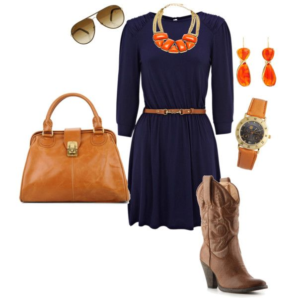 War Eagle colors. Game day outfit for those, unlike me, who wear dresses to football games. Cute outfit though.