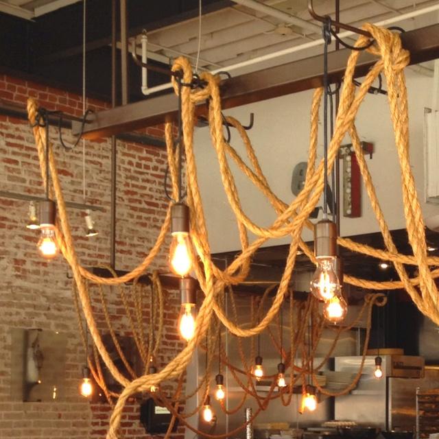 Rustic Lighting Rope Pendant Light Rope Light Wood Beam: Rustic Rope Lights
