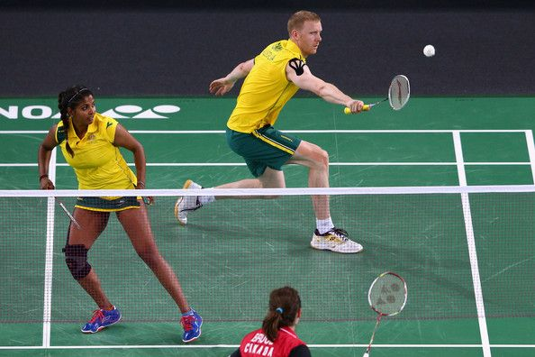 Renuga Veeran and Ross Smith of Australia. 20th Commonwealth Games: Badminton - Pictures - Zimbio