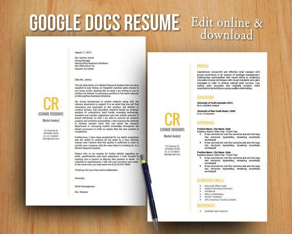 13 best Google Docs Templates images on Pinterest Google docs - resume google docs template