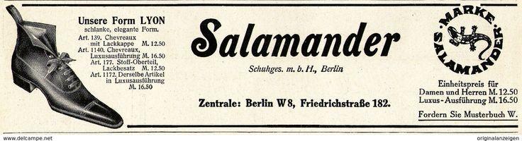 Original-Werbung/ Anzeige 1911 - SALAMANDER - SCHUHE - ca. 180 x 50 mm