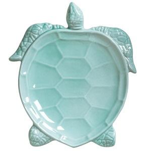 oooh Jacob loves turtles.Incanto Mare Aqua Turtle Salad Plate from Vietri - New!