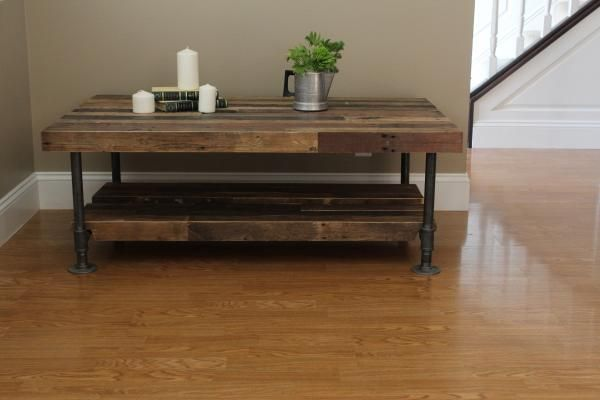 Industrial coffee table - We Love Timber and Soul!