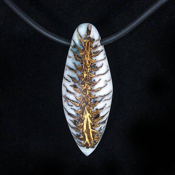 Handmade fir cone necklace