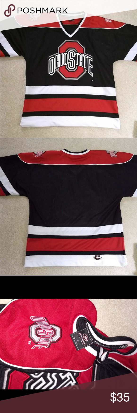 Ohio state jersey Ohio State hockey jersey collosseum brand size large. New and in good condition. Listed Nike for views Nike Tops Sweatshirts & Hoodies