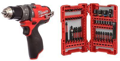 BRAND NEW MILWAUKEE FUEL LITHIUM-ION HAMMER DRILL DRIVER 2404-20  & DRIVE SET