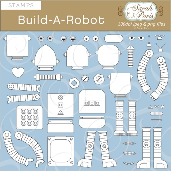 build your own robot idea {attach magnets to back}