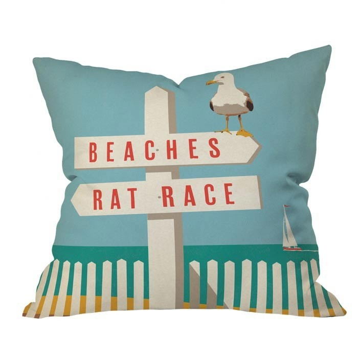 Beaches / Rat Race pillow