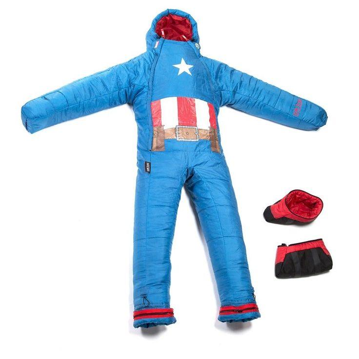 Marvel Kids by Selk'bag Captain America Sleeping Bag -