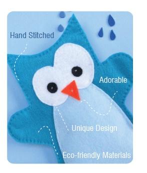 OHH Cute owl handpuppet
