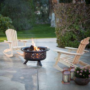 Coral Coast Adirondack Rocking Chair Fire Pit Chat Set - Rustic? You betcha. The Coral Coast Adirondack Rocking Chair Fire Pit Chat Set - Fire Pit is as timeless as it is alluring. This set has everything...