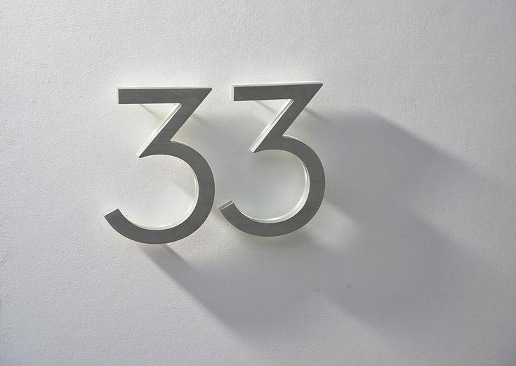 Brass house numbers modern House modern