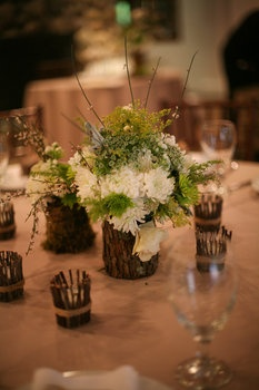 Rustic Centerpieces - Project Wedding Forums. Excluding burlap, I think we can make it be woodland-esk.