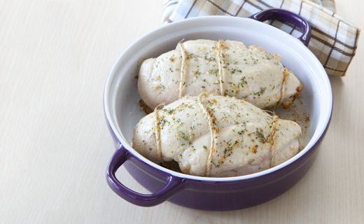Herbed Sage & Apple-stuffed Chicken: A great way to use up leftover stuffing from the holidays or make a meal extra special.