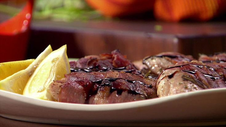 Prosciutto Wrapped Rosemary Chicken Thighs Recipe : Rachael Ray : Food Network