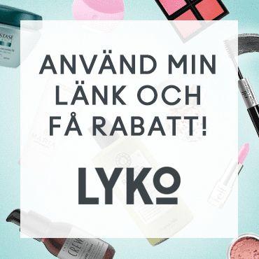 Klicka på min länk för att få 100 kr rabatt på din första order hos Lyko.se, en av Sveriges största butiker för skönhetsprodukter.