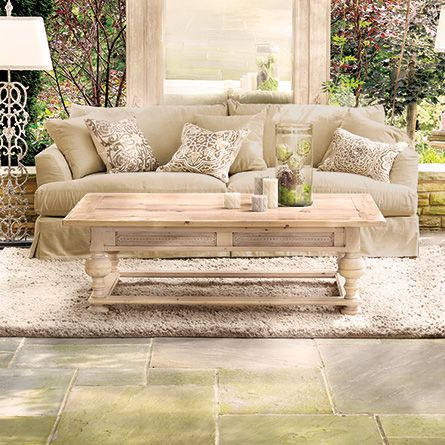 Arhaus Ellington Bleached Oak Large Coffee Table Dimensions 42 W X 19 D X 34 5 H 1600 Great Room Pinterest Large Coffee Tables