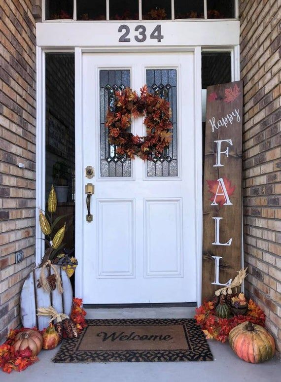 Little Falls Christmas 2020 Fall Front Porch Decor Reversible Fall/Christmas Large Sign   Etsy