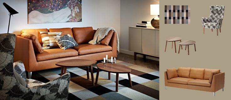 Stockholm Three Seat Sofa With Seglora Natural Leather