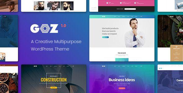Free Download Goz - Creative Multipurpose WordPress Theme