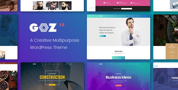 Free Download Goz - Creative Multipurpose WordPress Theme