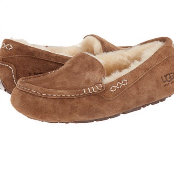 UGG Shoes | Ainsley Ugg Moccasins In Chestnut | Color: Cream