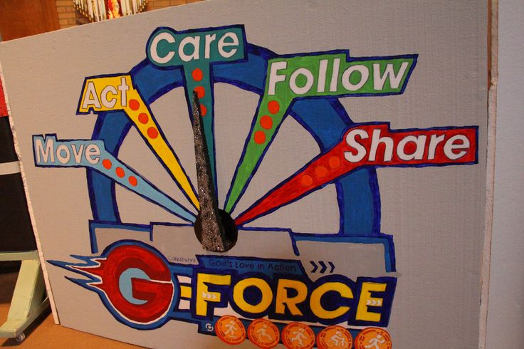 G-Force Meter! Item will be part of the Decorating and Publicity CD ROM! www.cokesburyvbs.com