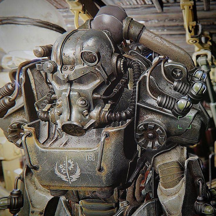 T60 Tesla armor #fallout #fallout4 #gaming #powerarmor #BOS #brotherhood #enb