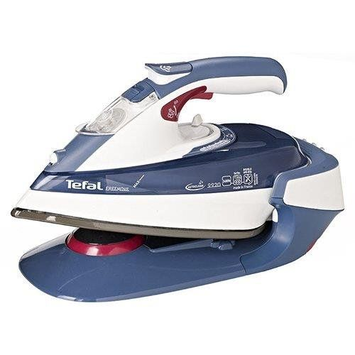 Tefal FV9920 FreeMove Cordless Steam Iron Anti-scale Information. Auto Steam Settings. Cord: 1.8m. Capacity: 250ml. Cold Spray / Vertical Pressing. Continuous Steam Pressure: 35g/min. Shot of Steam Pressure: 180g/min. Suitable for Tap Water.  http://www.comparestoreprices.co.uk/december-2016-6/tefal-fv9920-freemove-cordless-steam-iron.asp