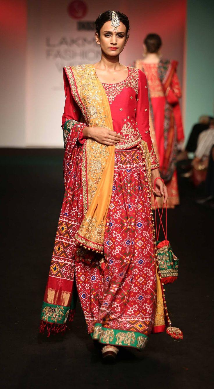 By designer Saroj Jalan. Shop for your wedding trousseau, with a personal shopper & stylist in India - Bridelan, visit our website www.bridelan.com #Bridelan #sarojjalan #lakmefashionweek