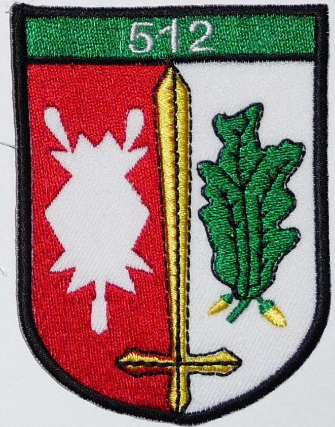 Aufnäher Patch Jäger Btl 512 Oldenburg Verbandsabzeichen Bundeswehr